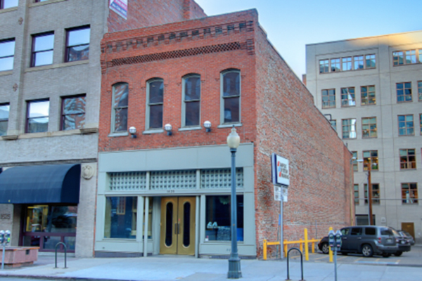 A recently renovated commercial property in downtown Denver.